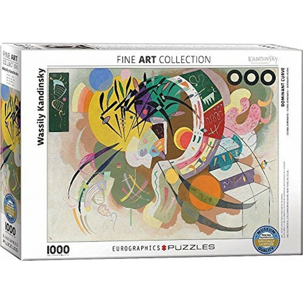 Eurographie  wassily Kandinsky Dominant Curve  Puzzle (1000 Pièces,
