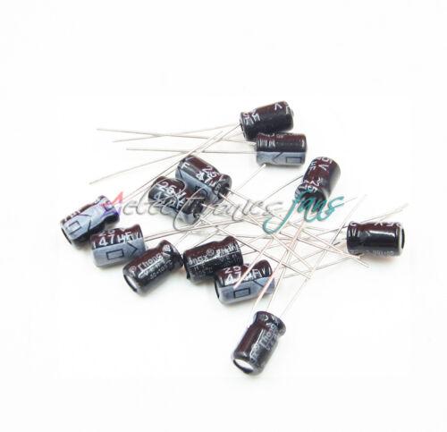 20pcs 47uF 25V 105°C Radial Elektrolytisch Kondensator 5x7mm