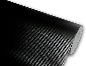 5D Glossy Carbon Fiber Black CF 1FT x 5FT Vinyl Car Wrap Sticker Decals Film