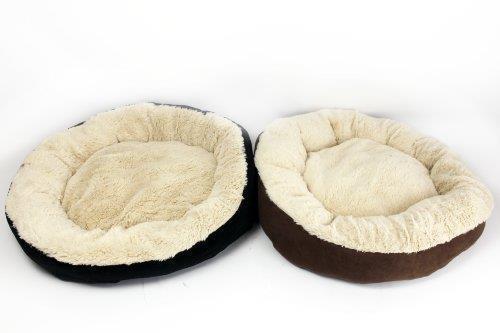 Cozy Soft Round Fleeze Fluffy Pet Dog   Cat Bed 56 cm