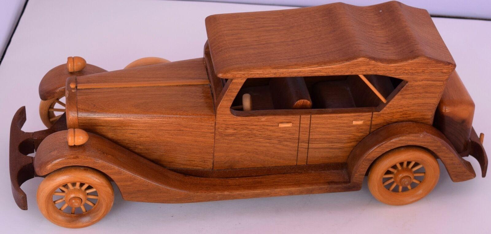 Hecho a mano madera detallada Grande De Madera Antiguo Coche 1930 Packard Douglas Barnes