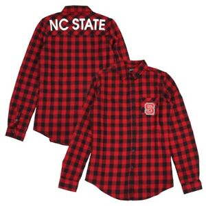 Nc State Wolfpack Ncaa Girls Red Quot Buffalo Plaid Quot Flannel