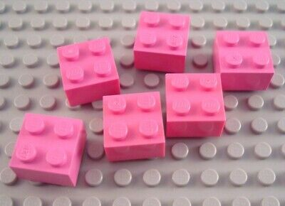 LEGO Lot of 4 Pink 2x3 Brick Pieces