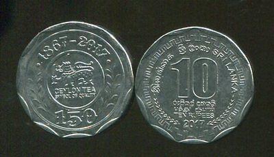 Sri Lanka Ceylon 100 /% Genuine 10 Rupee UNC 2017 Original New Coin New Series