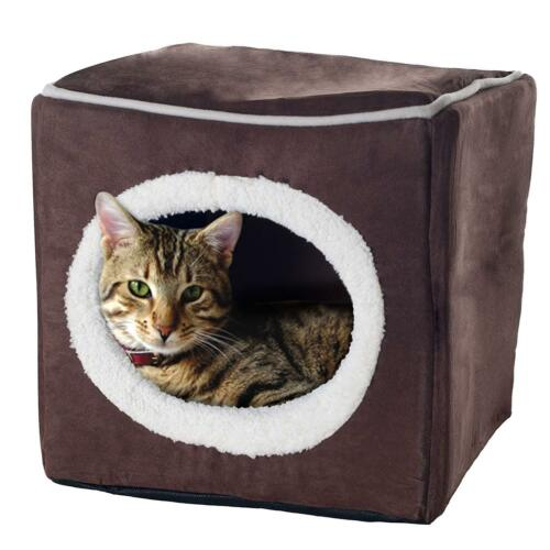 Pet Bed Dog Cat Soft House Warm Puppy Supplies Kennel Fleece Cushion cube Cozy