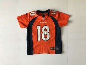 size 40 7ca20 8be4c Details about Authentic NIKE Denver Broncos Peyton Manning NFL Jersey YOUTH  Small S