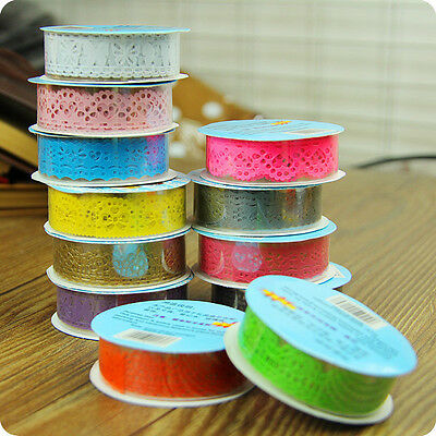 Hot Lace Roll DIY Washi Paper Decorative Sticky Paper Masking Tape Self Adhesive