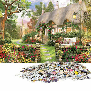 1000-Piece-Jigsaw-Puzzle-Angleterre-Cottage-paysages-puzzles-jouets-V3W7