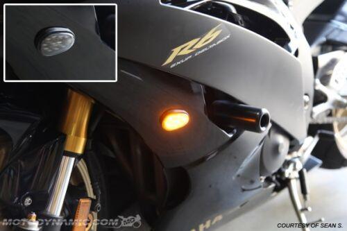 08-16 Yamaha YZF R6 Flush Mount LED Turn Signals Kit Dual Circuit w// Resistors
