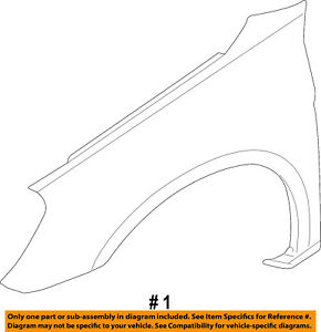 07-10 Sebring Front Fender Quarter Panel Left Driver Side LH CH1240260 5074403AE