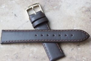 Short-very-supple-brown-18mm-Genuine-Calf-elegant-color-vintage-watch-strap-NOS