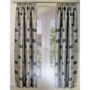 colours ready made pencil pleat curtains kara mushroom 90 x 72