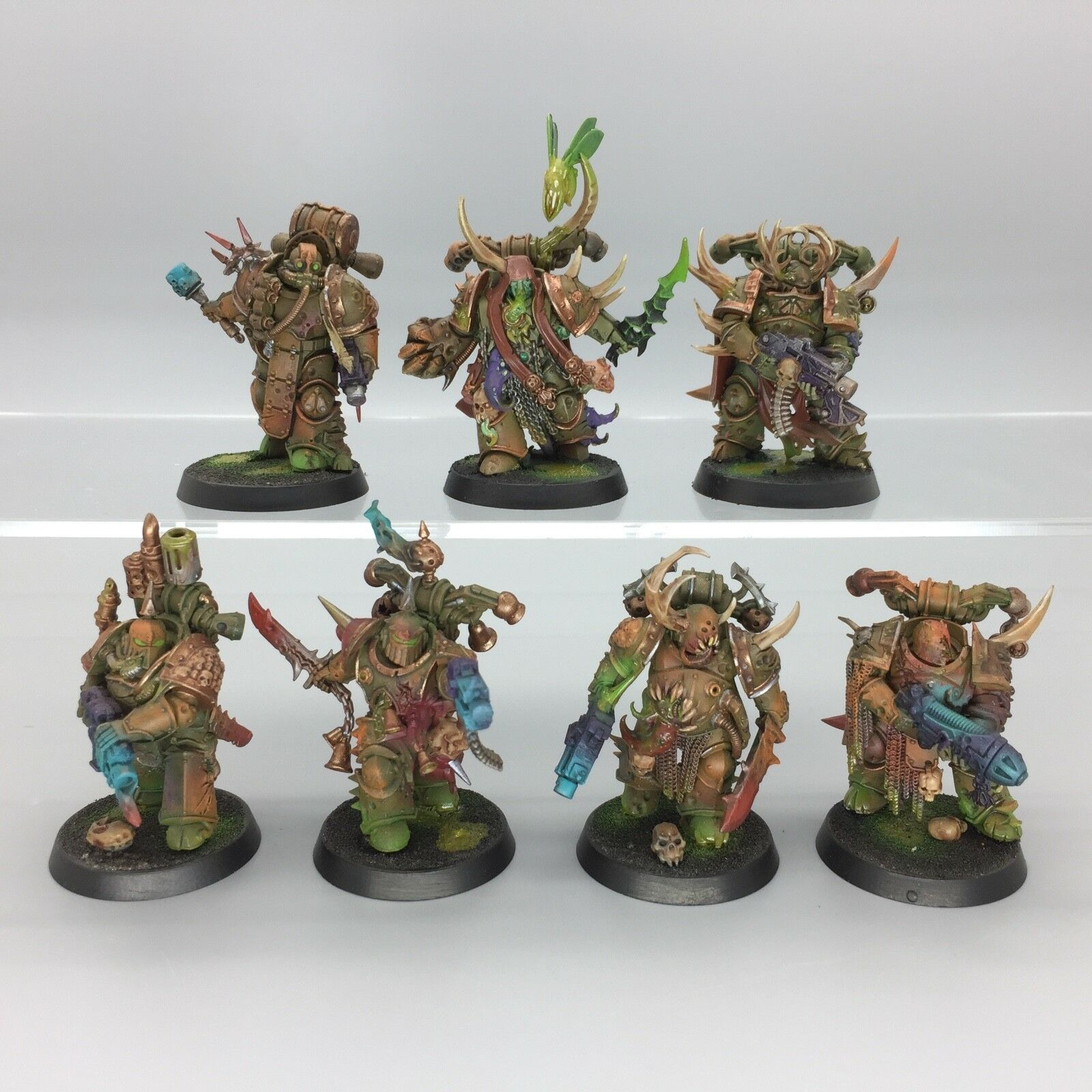Warhammer 40,000 Chaos Space Marines NURGLE DEATH GUARD Plague Marines painted
