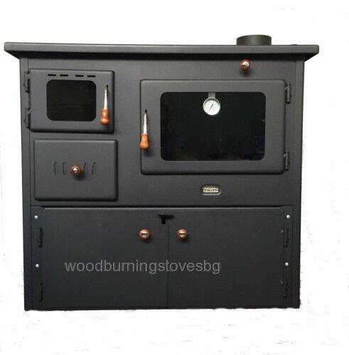 14 kw cucinare stufa a legna forno 2 ghisa superiore piatti con ante ebay - Stufa a legna per cucinare ...