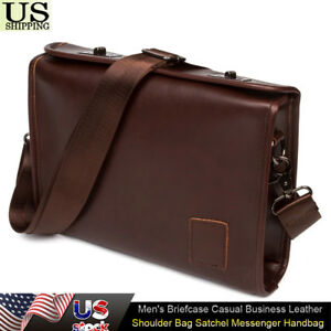 78f1e31de4b6 Image is loading Men-039-s-Briefcase-Casual-Business-Leather-Shoulder-