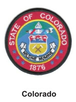 COLORADO State Seal Embroidered Patch-3/""