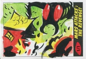 Mars-Attacks-The-Revenge-Sketch-Card-By-Lowell-Isaac