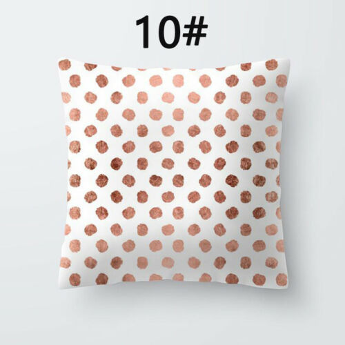 Bohemian /& Moroccan Geometric Cotton Pillow Case Square Cushion Cover Rose Gold