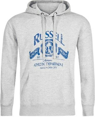 Nett Russell Athletic Printed Logo Mens Hoody - Grey Klar Und GroßArtig In Der Art