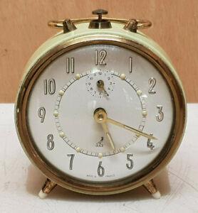 horlogerie-reveil-vert-clair-JAZ-Made-in-France-ancien-fonctionne