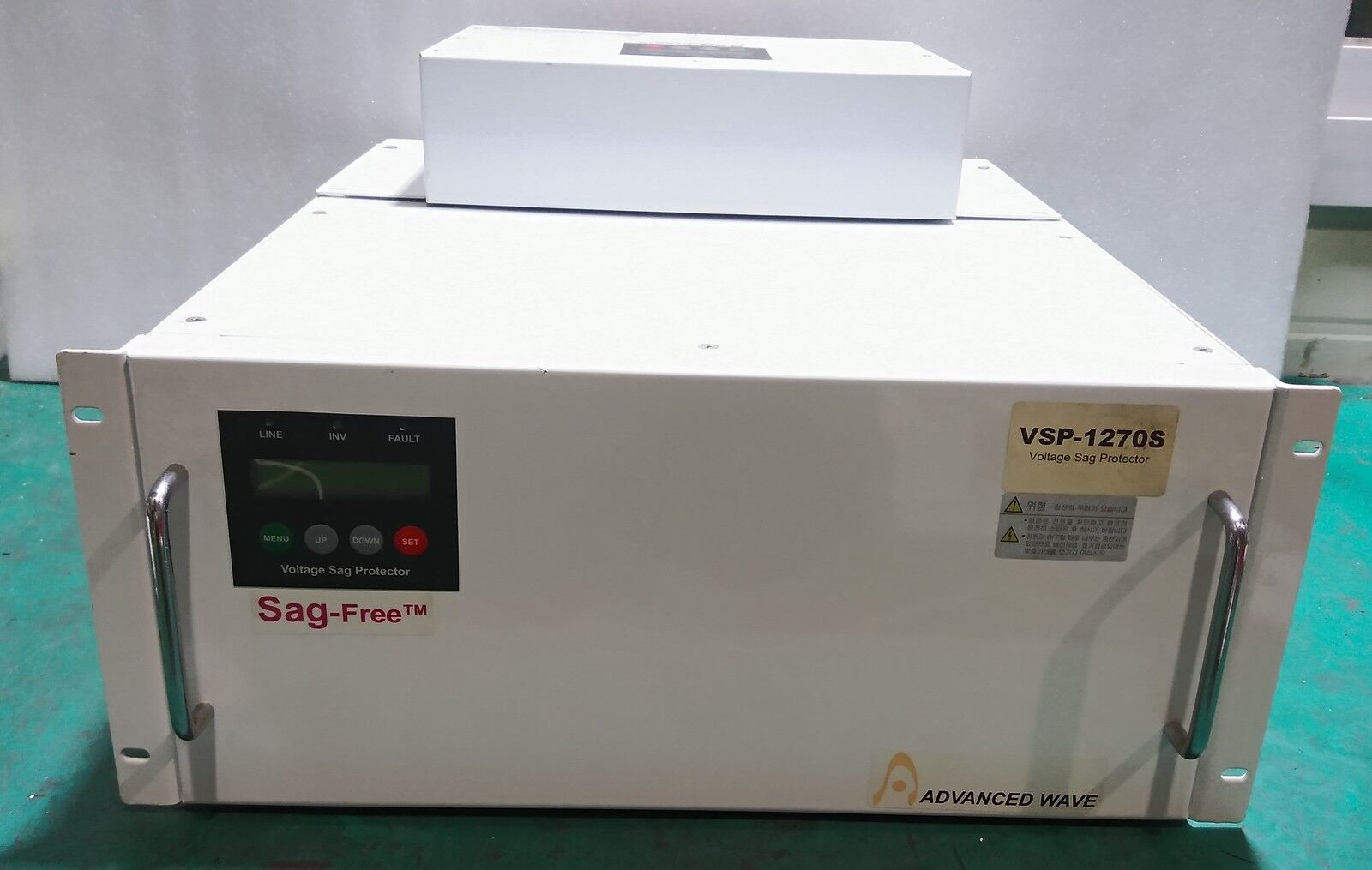 ADVANCED, Used / VSP-1270S, EBS-1250A / VOLTAGE SAG PROTECTOR, Emergency bypass