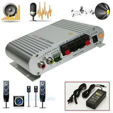 20W 12V Mini Hi-Fi Amplifier Booster Radio MP3 Stereo for Car Motorcycle+Adapte