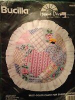 Bucilla Crazy Quilt 14 Pillow Cross Stitch Kit Accent Home Classics 40814
