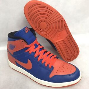 a8af9f45239337 Nike Air Jordan I 1 Retro KNICKS High OG GAME ROYAL TEAM ORANGE Size ...