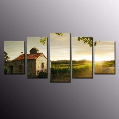 Canvas Prints Oil Painting Beautiful House and GreenTree Wall Home Decor 5pcs