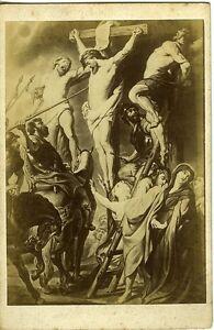 PHOTO-Musee-d-039-Anvers-RUBENS-Christ-entre-les-deux-larrons-circa-1890