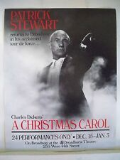 A CHRISTMAS CAROL Herald PATRICK STEWART / CHARLES DICKENS NYC 1992