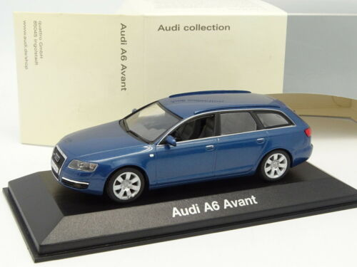 Holzspielzeug Minichamps 1/43 Audi A6 Vorne 2004 Kombi Blau