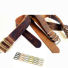 Genuine Leather Watch Strap Army ZULU band, Military style Handmade 18/20/22/24