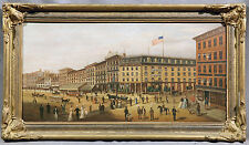 19th Century Oil Painting of The Corner of Bowery & Canal Street New York