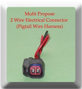 2-Wires-Multi-Propose-Electrical-Connector-Pigtail-Wire-Hafrness