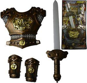 Épée médiévale chevaliers armure plastron Gantelets Toy Kids Fun  </span>