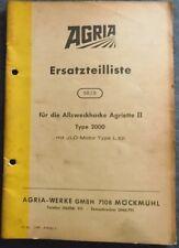 Agria Allzweckhacke Agriette II Typ 2000 Ersatzteilliste