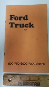 1974-FORD-Truck-500-750-6000-7000-Series-Owner-039-s-Manual-Good-Condition-US