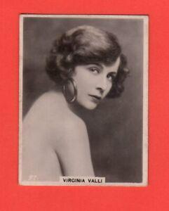 1920's  97. Virginia Valli  BAT CINEMA STARS, SET 6A  Film Card Rare
