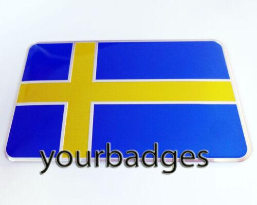 Hoja de aluminio placa de coche de la bandera de Suecia sueco Volvo Saab