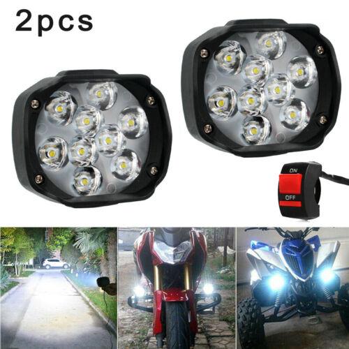 2pcs//set Universal Car SUV Motorcycle LED Waterproof Light Fog Lamp Headlight