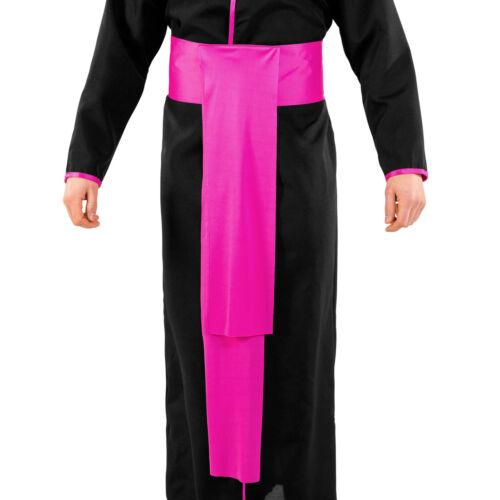 Costume da uomo prete cardinale papa sacerdote religioso carnevale arcivescovo