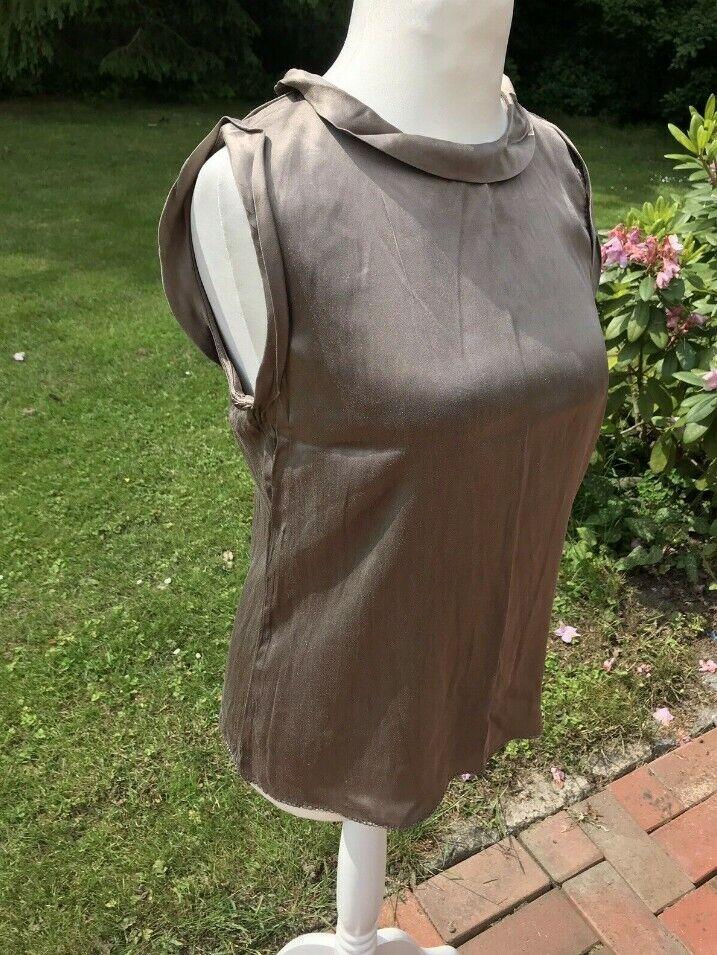 Steffen Schraut bronze Glitzer Blause Seide Gr. 40 Kleid