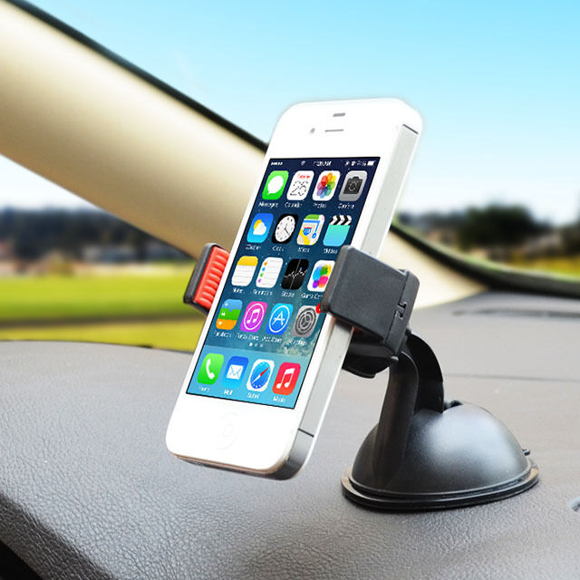 Car Windscreen Mobile Phone Holder Bracket Suction Cup Stand Mount 360° Rotation