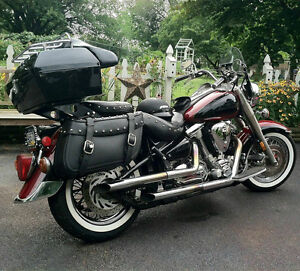 larger motorcycle trunk tail box tour pack w/ backrest fit honda