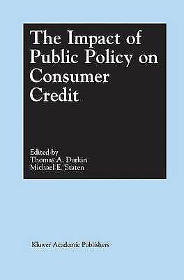1 of 1 - The Impact of Public Policy on Consumer Credit, Unknown, Used; Very Good Book