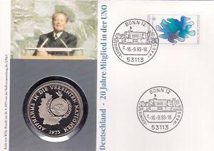 Numisbrief-Deutschland-Vereinte-Nationen-UN-80-Pfg-Briefmarke-Stempel-Bonn-1993