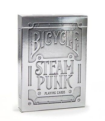 1 Deck Bicycle SteamPunk Playing Cards SILVER machinery pumping gears theory11