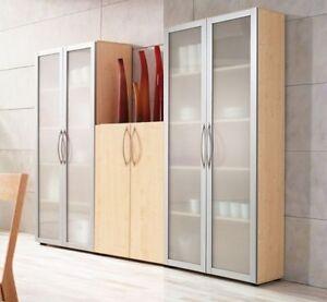 b ro schrank schrankwand 3 tlg b roschrank mit glast ren. Black Bedroom Furniture Sets. Home Design Ideas