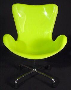 Miniature Sampler Egg Swan Chair Retro Design Modern Home Decor Lime Green Mini